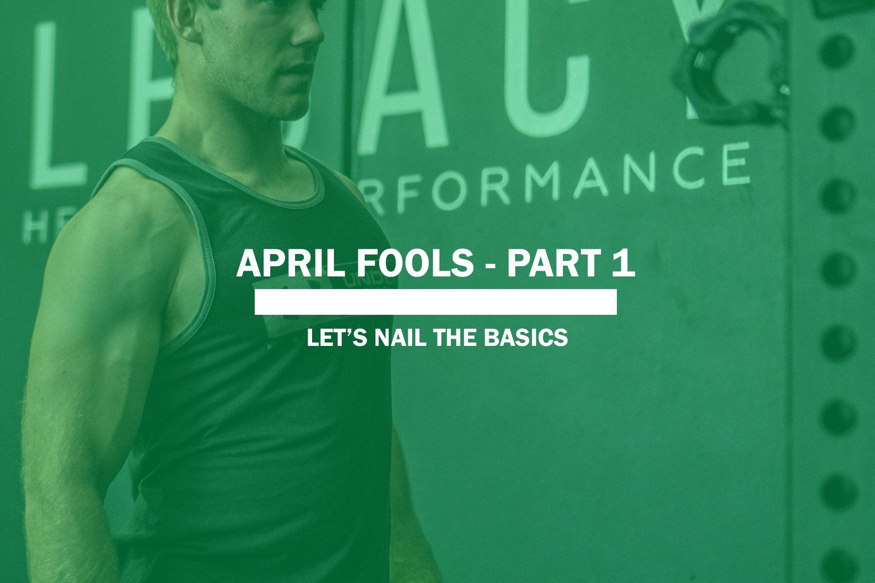 April Fools – Part 1