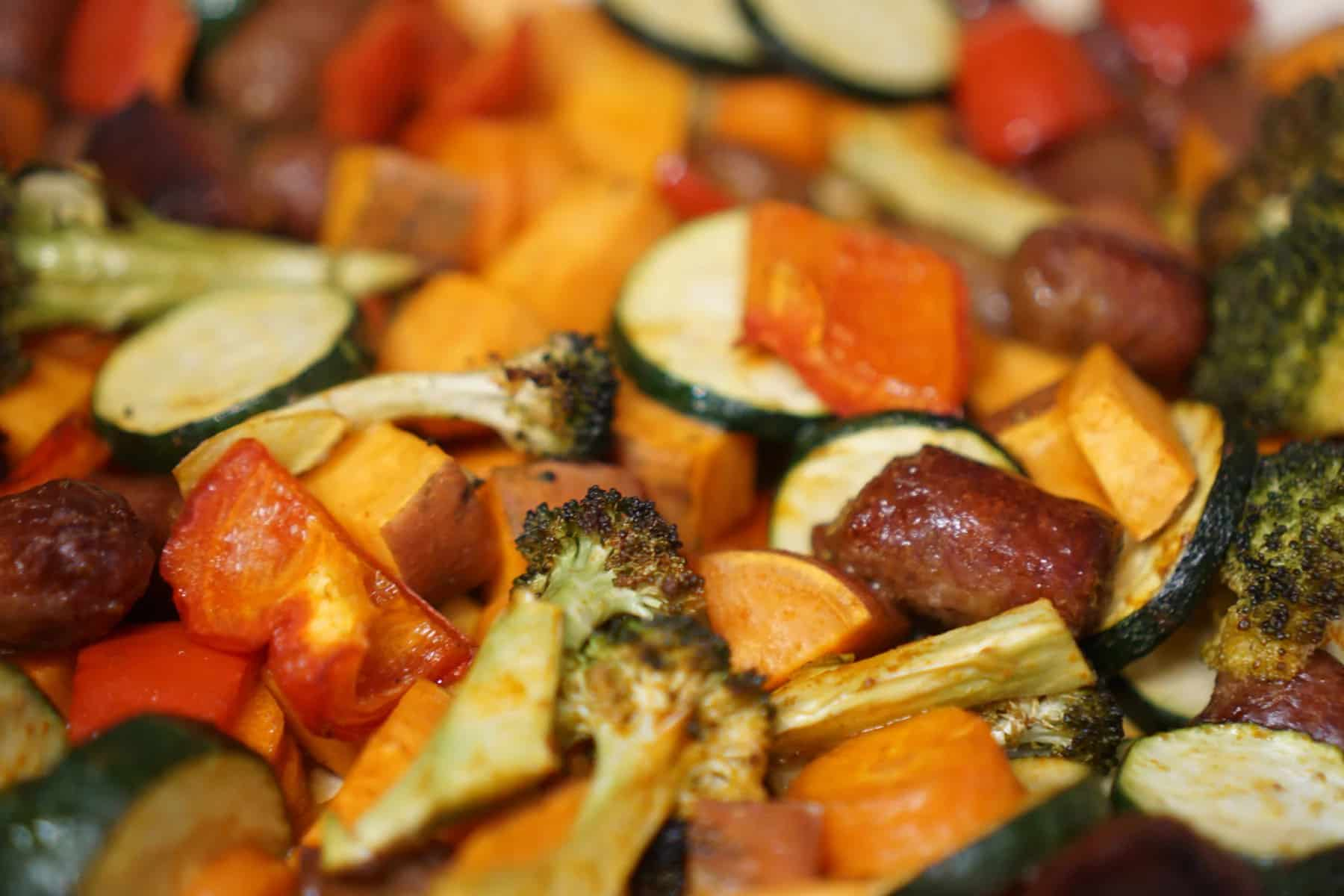 One Pan – Sausage & Vegetable Bake
