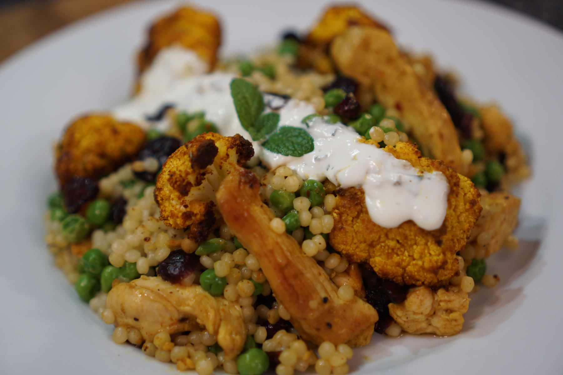 Moroccan Chicken With Minted Yoghurt