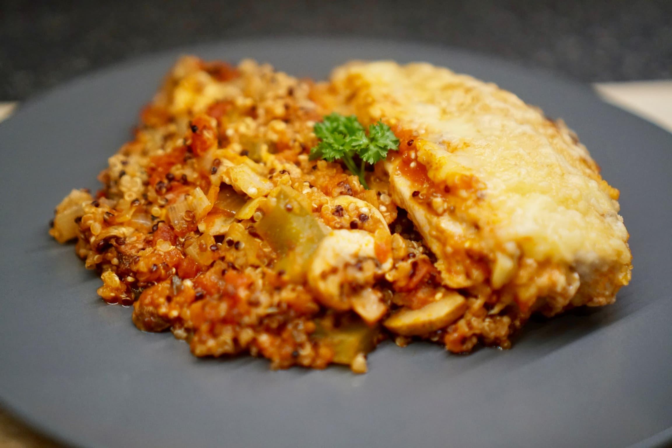 Parmesan Chicken and Quinoa