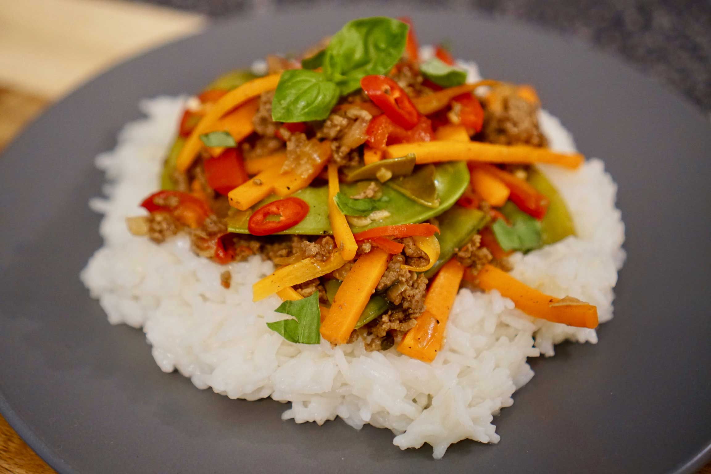 Thai Beef with Rice