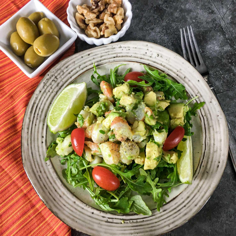 Keto Shrimp Avocado Salad